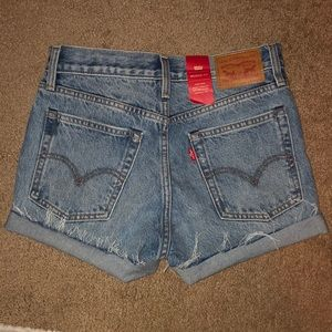 High waisted Levi denim shorts!